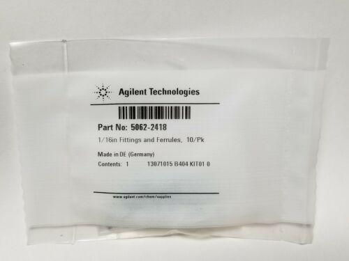 10/pk New Agilent 1/16in Fittings & Ferrules 5062-2418