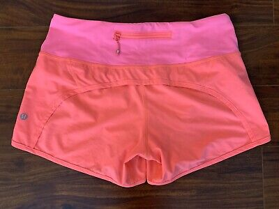 Lululemon Run Times Shorts Size 4 Hot Pink Coral