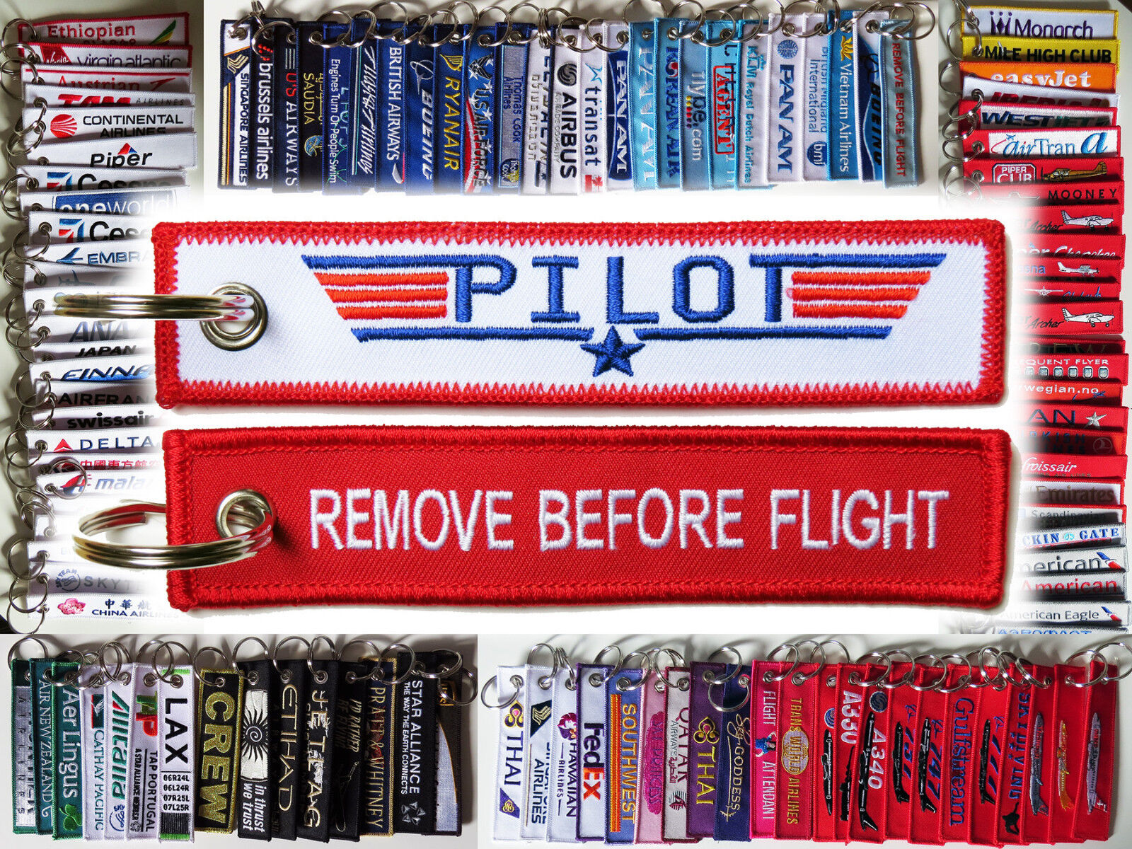 Details about Keyring TOP GUN PILOT Remove Before Flight tag keychain  military fighter jet 110e73936