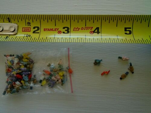 miniature plastic DOLLS lot of MICRO people for crafts or mixed media tiny 4.23