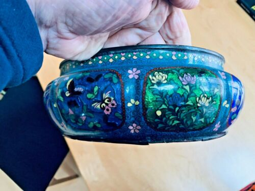 Large Antique Japanese Cloisonne Bowl