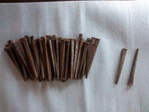 "Nails- rusty -70 PLUS---2 1/2"" SQUARE HEAD NAILS - PATINA ----10"