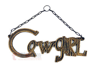 Texas Rustic Western Cast Iron Cowgirl Plaque Sign Wall Hanging Country Decor - Cowgirl Decor
