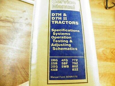 Cat Caterpillar D7h D7h Series Ii Service Manual Specifications Testing Adjust