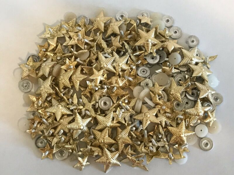 Lot of 150 Assorted Uniform Star & Wing Screw Back Pin Buttons Airline Military