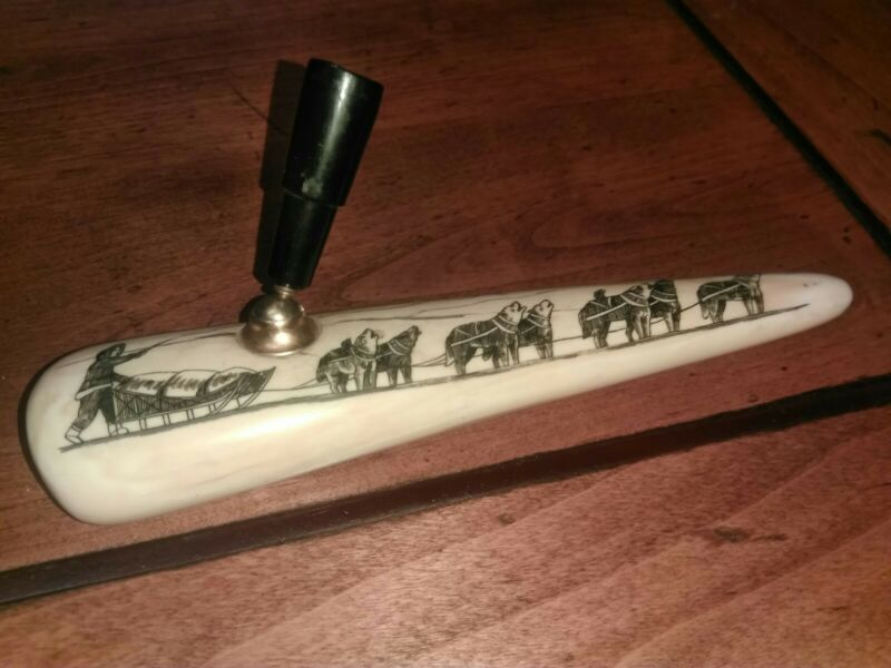 Alaskan Antique Pen Holder Polished