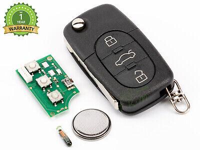 Schlüsselrohling Komplett Id48 Audi A4 S4 Rs4 Quattro Kabriolett 8e0837220q
