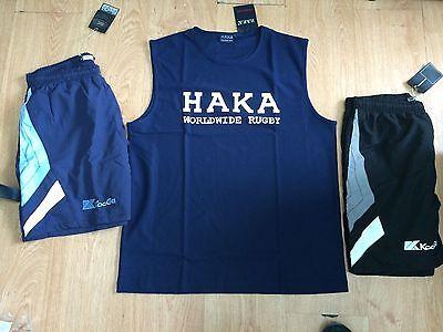 HAKA VEST XL 2 KOOGA LEISURE SHORTS SIZE XL RUGBY