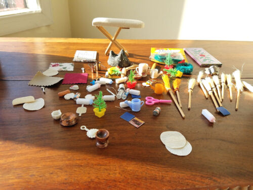 Vintage Lot of Various Doll House Decorations & Accessories Items