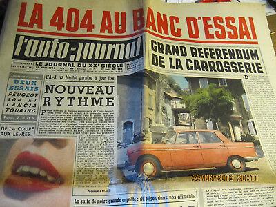 Journal L'auto-journal du 15 Juin 1960 - La 404 au banc d'essai d'occasion  Trooz