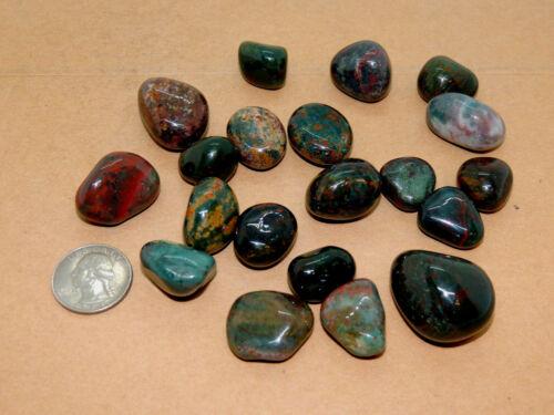 Bloodstone tumbled stones 1/4 pound from India (14037)