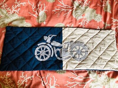 Pottery Barn Kids Motorcycle Quilted Lumbar Decorative Pillow Case NEW