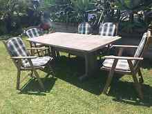 6 Piece Solid Timber Outdoor Setting Table and Chairs Capalaba Brisbane South East Preview