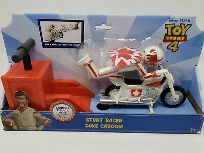 Disney Pixar Toy Story 4 Stunt Racer Duke Caboom Action Figure with Launcher NEW
