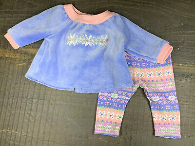 Used, American Girl Bitty Baby 2013 Snowy Dreams PJ Outfit for Doll Top + Bottom RARE for sale  Encino