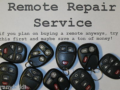 GM Key Fob Transmitter Remote REPAIR SERVICE Fixed & Returned in 24 Hours!