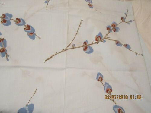 VINTAGE FIELDCREST PERCALE PUSSYWILLOW FULL SIZE SHEETS BLUE NEW!