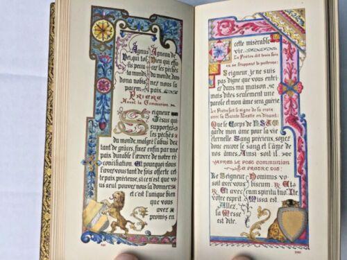 19th C Illuminated Manuscript Handwritten Calligraphy Book Of Hours Missal illus