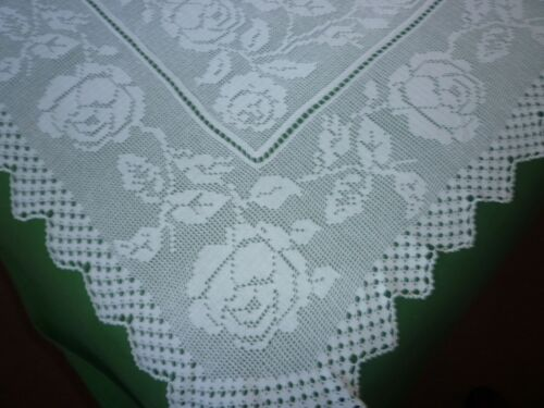Mary Card design antique tablecloth rose bud
