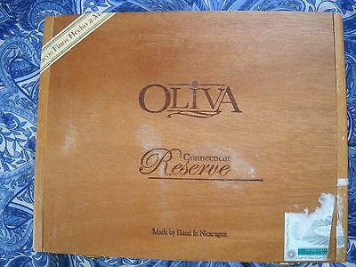 OLIVA CT RESERVE TORO WOOD CIGAR BOX NICARAGUA ONCE HELD 20 CIGARS, NOW EMPTY - $6.00