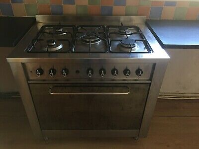 INDESIT RANGE GAS COOKER WITH ELECTRIC FAN OVEN & TOP OVEN/GRILL COLLECTION ONLY