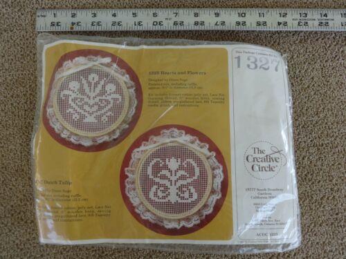 Creative Circle Embroidery Lace Hardanger Darning Kit NIP #1327 Dutch Tulip