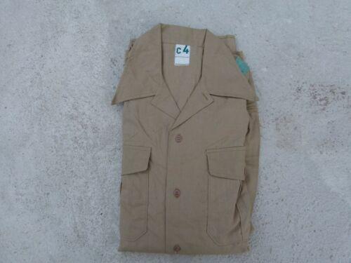 1950s Vintage French Army Military M47 Indochina Algeria Field Khaki Shirt