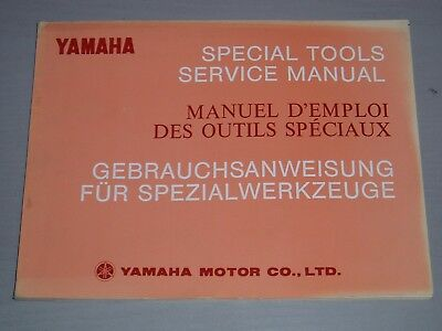 YAMAHA SPECIAL TOOL SERVICE MANUAL