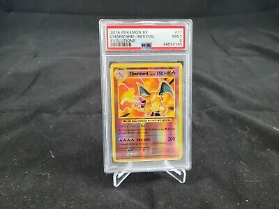 Pokemon XY Evolutions Charizard 11/108 Rare Reverse Holo Card PSA 9!!