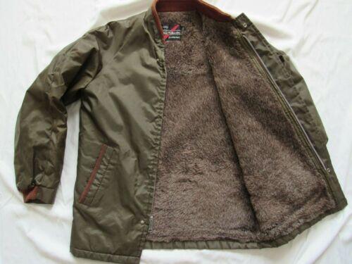 Vtg 60s Sears Outerwear Pile Fleece Lined Nylon Jacket Sz 36 R Mod Nice Shape!