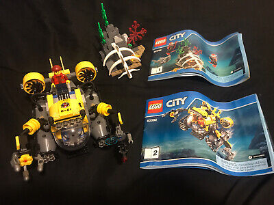 LEGO City Deep Sea Submarine Set 60092 USED Mostly Complete W/Manual Read Desc