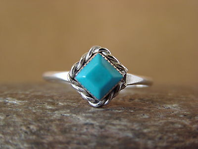 Navajo Indian Native American Jewelry Sterling Silver Turquoise Ring Size 6