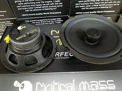CRITICAL MASS AUDIO SPEAKER 6.5'' BEST DOOR COAXIAL MADE USA FOCAL $999 SS6 BE