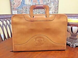 GHURKA No 24 Tan Belting Leather Briefcase / Portfolio - Made In America