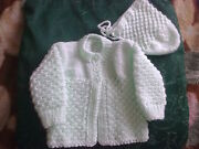 Hand Knit Baby Sweater Sets