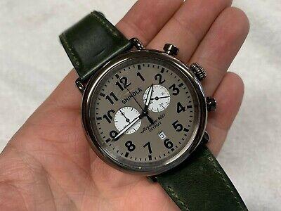 Shinola Runwell 47mm Chronograph Grey Dial PVD Watch