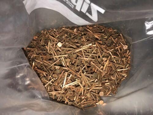 """6 1/4  Pounds of Vintage COPPER Square Cut Nails ~3/4"""""""