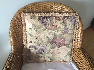 Vintage look cushion cover and insert, 400mm x 400mm Willoughby Willoughby Area Preview