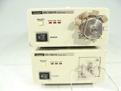 Lot Of Two - Jasco Hg-1580-32 Dynamic Mixer Solvent Mixing Module For Hplc