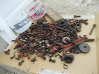 Farmall 560 H Tractor Ih Ihc Box Of Bolts Parts Nuts Pieces Covers Cap