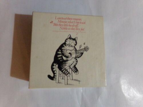1979 B Kliban Love to eat them mousies mini jigsaw puzzle 100 pcs