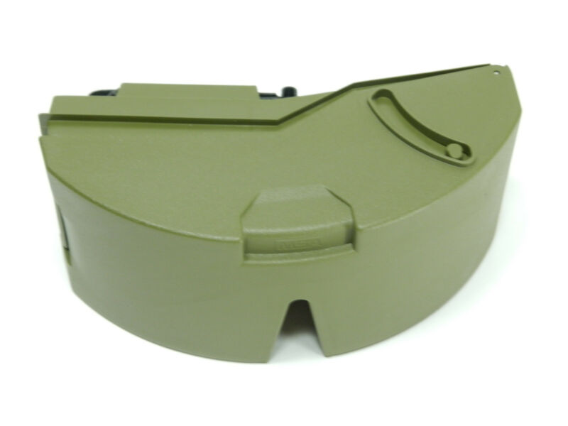 New MSA Tactical Army Olive Green Hard Storage Case w/ Belt Clip for Sun Glasses