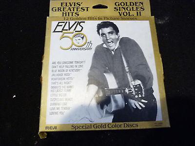 "ELVIS PRESLEY - 50TH ANNIVERSARY: GOLDEN SINGLES VOL 2: 6 X 7"" GOLD COLOR VINYL"