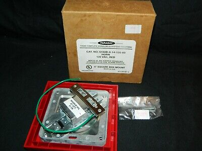 Faraday 6180b-0-14-120-60 Horn120vacred 4square Box Mount Fire Alarm