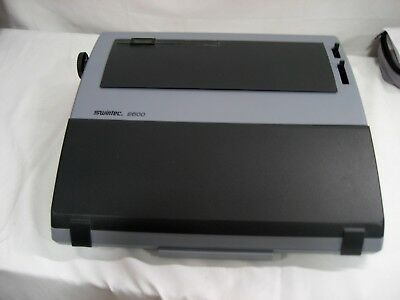 Refurbished Swintec 2500 Personal Typewriter 17w X 16d X 4.75h Wkybrd Cover