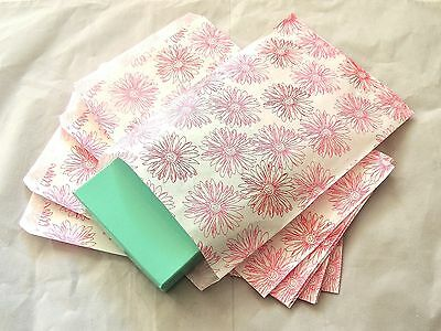 50 6x9 Pink Flower Print Paper Merchandise Bagspink And White Party Gift Bags