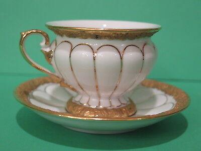 Meissen Demitasse Demi Cup & Saucer Golden Baroque