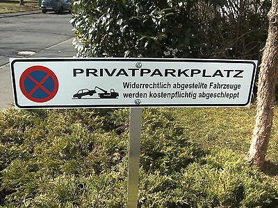 Privatparkplatz mit Logo 480 x 110 x 4 mm Parkverbot mit Erdstab