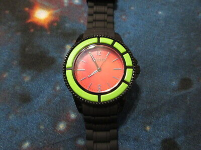 Versace Versus Tokyo Silicone Watch Green + Orange with Black Strap