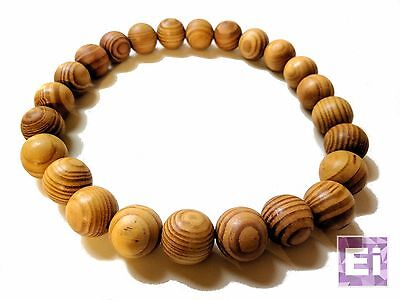 Akuma Prayer Bead Necklace (Natural Wood)